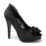 PLEASURE-10 Black Bow Pumps