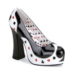 POKER-21 Black White Heels
