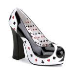 POKER-21 Black White Heels