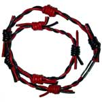 Black Red Barbed Wire Wristband