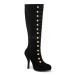 RINGMASTER-258 Black Velvet Boots