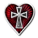 Sacred Heart Single Stud