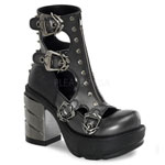 SINISTER-61 Black Cromed Boots