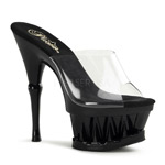 SPIKY-601 Black Clear Platforms