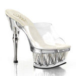 SPIKY-601MG Clear Platform Heels
