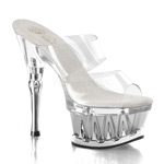 SPIKY-602 Clear Platform Heels