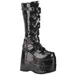 STACK-308 Black Patent Platforms