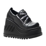 STOMP-16 Black Platform Shoes