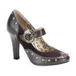 TESLA-03 Brown Steampunk Heels
