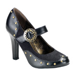 TESLA-03 Black Steampunk Heels
