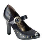 TESLA-03 Black Steampunk Heels