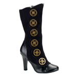 TESLA-108 Black Steampunk Boots