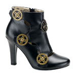 TESLA-12 Black Steampunk Boots