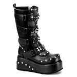 TRUCK-200 Black Platform Boots