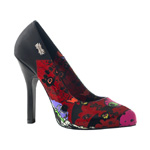 ZOMBIE-01 Black Graffiti Pumps
