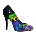 ZOMBIE-03 Black Graffiti Pumps