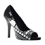 ZOMBIE-06UV Black White Heels