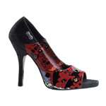 ZOMBIE-10 Black Graffiti Pumps