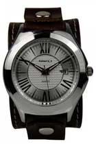 Roman Casual Leather Band Watch