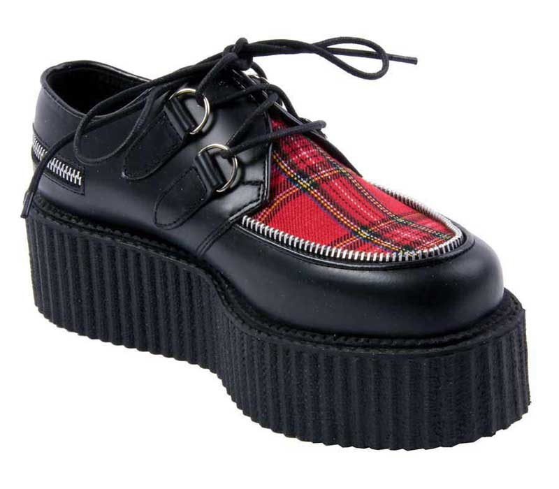 creeper 406 plaid leather creeper shoes
